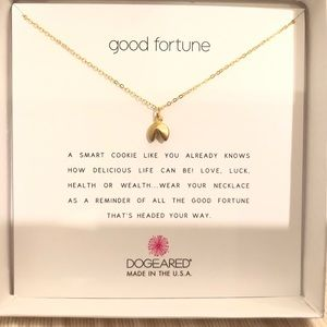 Dogeared Good Fortune Fortune Cookie Necklace